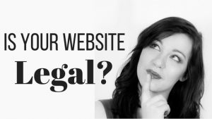 Is your website legal title with a girl pondering