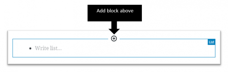 Add block icon at the top of a block