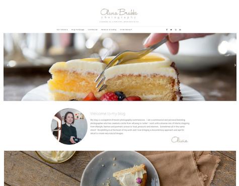 Screenshot Olivia Brabbs Blogging website