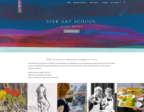 Screenshot Seek Art School E-Commerce Website
