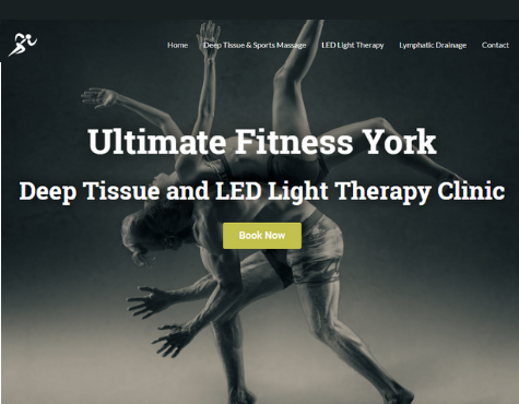Ultimate Fitness York Website Screenshot