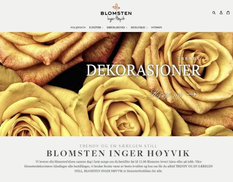 Blomsten Inger Hoyvik Website Screenshot