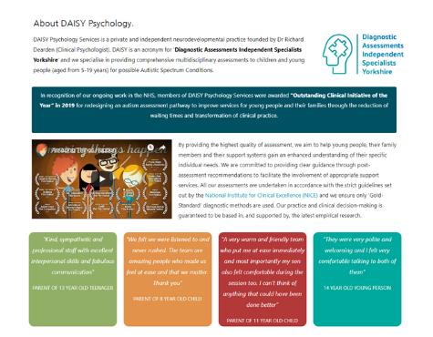 Daisy Psychology Screenshot