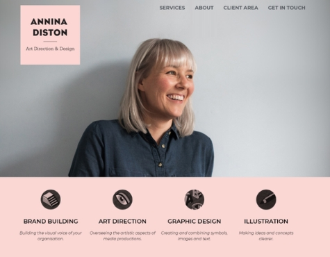 Annina Diston Website Screenshot