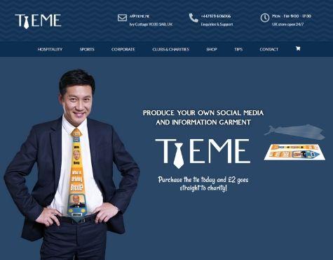 TieMe Website Screenshot