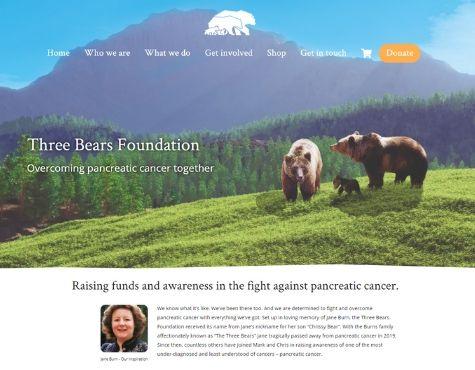 Three Bears Website Screenshot