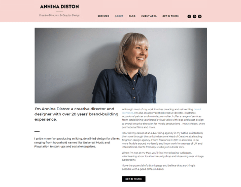 AnninaDiston Website Screenshot