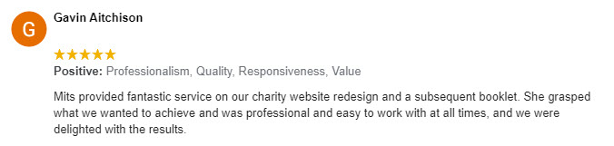 Restore Booklet 5 Star Google Review